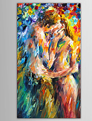cheap -Oil Painting Hand Painted - People Abstract Portrait Modern European Style With Stretched Frame