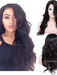 cheap -Human Hair Machine Made Glueless Full Lace Glueless Lace Front Wig style Brazilian Hair Body Wave Wig 130% 150% 180% Density with Baby Hair Natural Hairline African American Wig 100% Hand Tied Women's