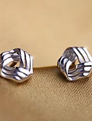 cheap -Women's Cubic Zirconia Stud Earrings Sterling Silver Zircon Silver Earrings Jewelry Silver For Wedding Party Daily Casual Sports