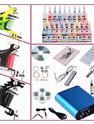 cheap -BaseKey Tattoo Machine Starter Kit, 1 pcs Tattoo Machines with 28 x 5 ml tattoo inks - 3 steel machine liner & shader