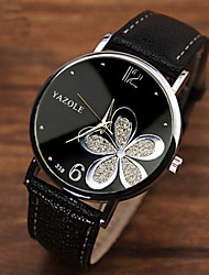 cheap -Women's Ladies Wrist Watch Analog Quartz Flower Casual Watch / One Year / Stainless Steel / Quilted PU Leather