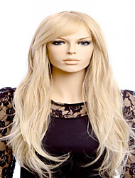 cheap -new european lady cosplay middle blonde big waves synthetic hair