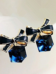 cheap -Women's Crystal Drop Earrings Bowknot Earrings Jewelry Blue For