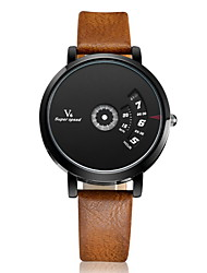 cheap -V6 Men's Wrist Watch Quartz Leather Silver Casual Watch Analog Charm Classic Unique Creative - Brown Black / White Black Two Years Battery Life / Mitsubishi LR626