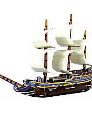 cheap -Ship 3D Puzzle Wooden Puzzle Paper Model Wooden Model Paper Kid's Adults' Toy Gift