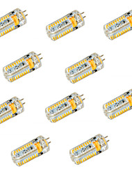 cheap -10PCS G4 3014SMD 72LED 600LM LED Bi-pin Lights Warm White Cool White Led Corn Bulb Chandelier Lamp DC 24V AC 24V AC 12V DC 12V