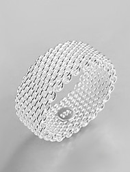 cheap -Band Ring Silver Brass Silver Plated Ladies Personalized Fashion / Women's