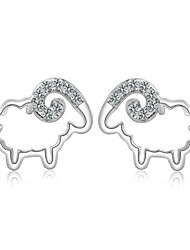 cheap -Women's Stud Earrings - Sterling Silver, Silver Birthstones For Wedding Party Daily