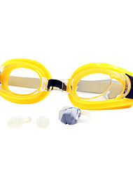 cheap -Swimming Goggles Waterproof Anti-Fog UV Protection Mirrored Plated For Silica Gel Plastic Bisque Yellow Red Black