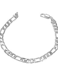 cheap -Men's Tennis Bracelet Ladies Copper Bracelet Jewelry Silver For Party Daily Casual / Silver Plated