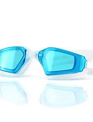 cheap -Swimming Goggles Waterproof Anti-Fog Adjustable Size Anti-UV UV Protection Mirrored For Silica Gel PC Blacks Blues Light Blue Pink Black Blue