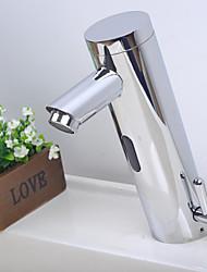 billige -Håndvasken vandhane - Touch / ikke-touch Krom Centersat Et Hul / Enkelt håndtag Et HulBath Taps