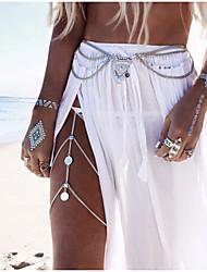 cheap -Belly Body Chain Body Chain Ladies Unique Design European Women's Body Jewelry For Wedding Casual Alloy Golden Silver / Leg Chain