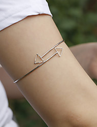 abordables -Unisexe Bijoux de Corps Bracelet de Bras Dorée / Argent dames / simple / unique Alliage Bijoux de fantaisie Pour Soirée / Anniversaire / Cadeau Été