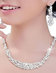 cheap -Women's Crystal Jewelry Set Silver Earrings Jewelry Silver For Wedding Party Anniversary Engagement
