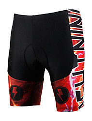 cheap -Men's Unisex Cycling Padded Shorts Bike Shorts Padded Shorts / Chamois Windproof Breathable 3D Pad Sports Lycra Red Clothing Apparel Bike Wear / Quick Dry / Anatomic Design / Limits Bacteria