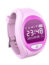 cheap -Unisex Connector Digital Rubber GPS Watch Digital Blue Pink