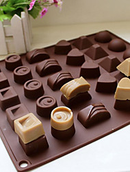 cheap -30 Cavity Silicone Heart Round Chocolate Mold Ice Cube Tray Mould
