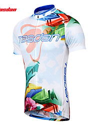 cheap -TASDAN Men's Short Sleeve Cycling Jersey Bike Jersey Top Clothing Suit Mountain Bike MTB Road Bike Cycling Breathable Quick Dry Sweat-wicking Sports 100% Polyester Clothing Apparel / Stretchy