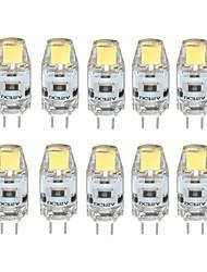 cheap -10pcs 1 W LED Bi-pin Lights 100 lm G4 T 1 LED Beads COB Dimmable Warm White Cold White 12 V / 10 pcs / RoHS