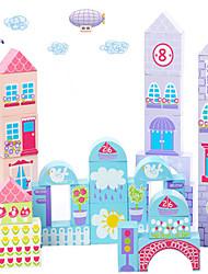 cheap -City Garden Building Blocks Of Color Building Blocks For Children To Build A Castle Toy Building Blocks