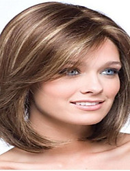 cheap -Synthetic Wig Straight Straight Wig Medium Length Brown Synthetic Hair 10 inch Women's Brown hairjoy