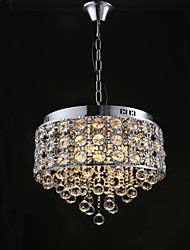 cheap -4-Light 38.5CM(15.1inch) Crystal / Designers Chandelier Metal Chrome Modern Contemporary 110-120V / 220-240V