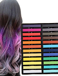cheap -24 color temporary chalk crayons for hair non toxic hair dye pastels stick diy styling tools