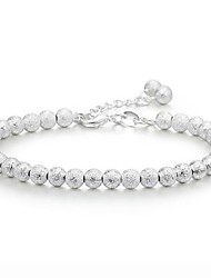 cheap -Women's Chain Bracelet Beads Ladies Sterling Silver Bracelet Jewelry Silver For Wedding / Silver Plated