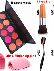 cheap -10 Colors Powders Blush Makeup Brushes Dry / Combination / Oily Waterproof / Breathable / Coverage Face China Makeup Cosmetic