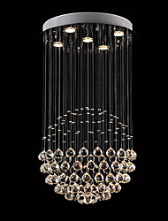 cheap -5-Light 50cm(19.6inch) Crystal / LED Chandelier Metal Crystal Electroplated Modern Contemporary 110-120V / 220-240V / GU10