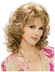 cheap -Synthetic Wig Curly Curly Wig Blonde Synthetic Hair Blonde