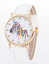 cheap -Women's Wrist Watch Quartz Quilted PU Leather Black / White / Blue Casual Watch Analog Fashion Elegant - Green Blue Pink One Year Battery Life / Jinli 377