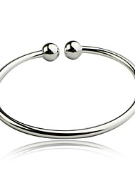 cheap -Women's Bracelet Bangles Ladies Unique Design Simple Style Fashion Sterling Silver Bracelet Jewelry Silver For Christmas Gifts Wedding Party Daily Casual