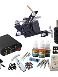 cheap -BaseKey Tattoo Machine Starter Kit, 1 pcs Tattoo Machines with 1 x 20 ml tattoo inks - 1 steel machine liner & shader