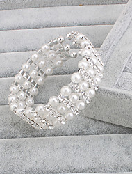 cheap -Women's Silver Brown Pearl Strand Pearl Bracelet Jewelry Silver For Wedding Party Special Occasion Anniversary Birthday Engagement / Gift / Daily / Casual