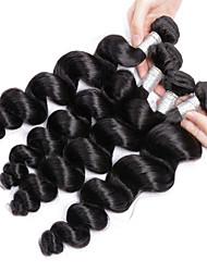 cheap -4 Bundles Brazilian Hair Loose Wave Virgin Human Hair Natural Color Hair Weaves / Hair Bulk Human Hair Weaves Human Hair Extensions / 10A