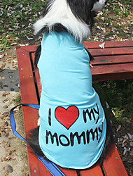 cheap -Cat Dog Shirt / T-Shirt Letter & Number Fashion Dog Clothes Blue Pink Orange Costume Large Dog Cotton XXXL XXXXL XXXXXL XXXXXXL 7XL 8XL