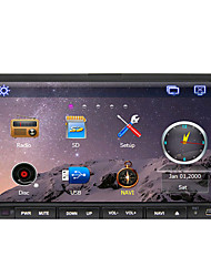 cheap -7 inch 2 DIN Windows CE In-Dash Car DVD Player Touch Screen / GPS / Built-in Bluetooth for Support / iPod / RDS / Steering Wheel Control / Subwoofer Output / SD / USB Support