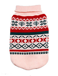cheap -Dog Sweater Puppy Clothes Geometic Fashion Winter Dog Clothes Puppy Clothes Dog Outfits Yellow Pink Green Costume for Girl and Boy Dog Cotton XS S M L XL
