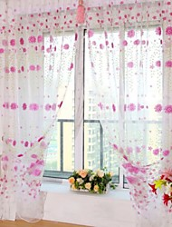 """cheap -Sheer Curtains Shades One Panel 39""""W*79""""L Purple / Living Room"""