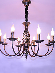 cheap -8-Light 72CM Designers / Candle Style Chandelier Metal Others Retro 110-120V / 220-240V