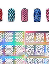 cheap -1 pcs 3D Nail Acrylic Molds Diecut Manicure Stencil nail art Manicure Pedicure Flower / Fashion Daily / PVC(PolyVinyl Chloride)