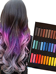 cheap -36 color temporary chalk crayons for hair non toxic hair dye pastels stick diy styling tools