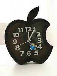 Недорогие -творческий пластиковые мини-яблоко настольного игла сигнализация кварцевые часы (случайный цвет)