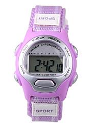 Недорогие -Спортивные часы электронные часы Цифровой Синий / Фиолетовый Повседневные часы Цифровой Дамы Кулоны Мода - Лиловый Синий