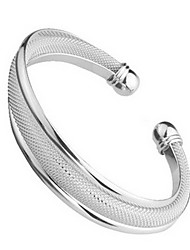 cheap -Women's Cuff Bracelet Ladies Sterling Silver Bracelet Jewelry Silver For Wedding / Silver Plated