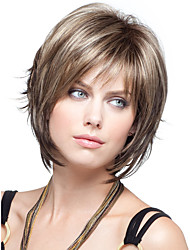 cheap -Synthetic Wig Straight Straight Wig Short Brown Synthetic Hair Women's Brown StrongBeauty