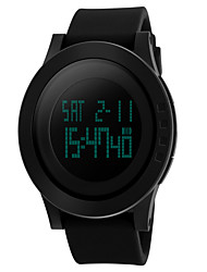 cheap -Men's Wrist Watch Digital Watch Rubber Black 30 m Water Resistant / Waterproof Digital Luxury - Black Two Years Battery Life / Stainless Steel / Panasonic CR2025