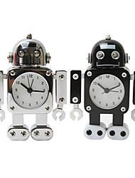 Недорогие -Робот стол будильник подарок домой украшение стола для детей немой будильника